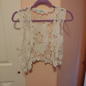 Maurice's cocheted crop vest